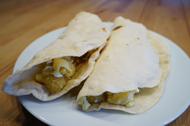 How to make Potato and Egg Breakfast Tacos